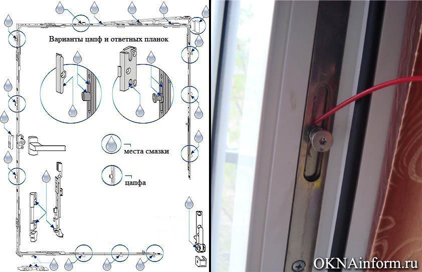 Замена фурнитуры на пластиковых окнах своими руками